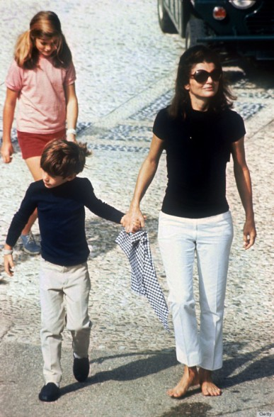 Photo taken in 1966 of Jackie Kennedy wi