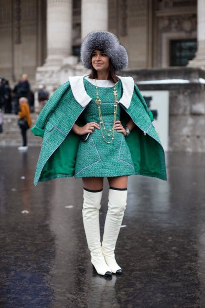 la-modella-mafia-Chanel-and-thigh-high-boots-street-style-at-Haute-Couture-Spring-2013-Fashion-Week-Miroslava-Duma