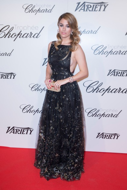 NO TABLOID - Exclusif - No web - No blog - Blanca Suarez - Soirée de la remise du trophée Chopard sur la terrasse de l'hôtel Martinez à Cannes, le 15 mai 2015. NO TABLOID - For Germany call for price Exclusive No web - No blog - The Chopard Trophy during the 68th Cannes International Film Festival held at Martinez Hotel in Cannes, France, on May 15th 2015.
