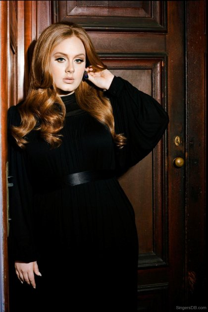 Adele-In-Black-Dress
