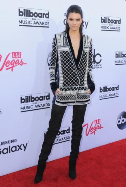 LAS VEGAS, NV - MAY 17: Kendall Jenner arrives at the 2015 Billboard Music Awards at MGM Garden Arena on May 17, 2015 in Las Vegas, Nevada. (Photo by Jon Kopaloff/FilmMagic)