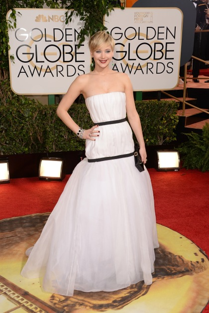 BEVERLY HILLS, CA - JANUARY 12:  Actress Jennifer Lawrence attends the 71st Annual Golden Globe Awards held at The Beverly Hilton Hotel on January 12, 2014 in Beverly Hills, California.  (Photo by Jason Merritt/Getty Images)