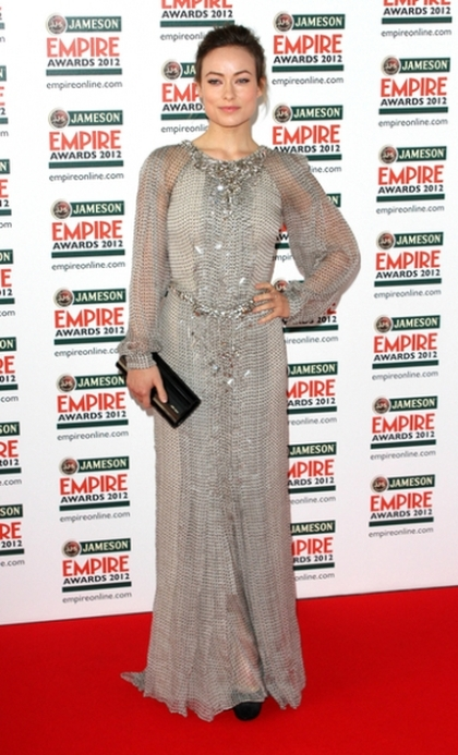 03/25/2012 - Olivia Wilde - Empire Film Awards 2012 - Arrivals - Grosvenor House - London, UK - Keywords: LMK73-33792-260312 Orientation: Portrait Face Count: 1 - False - Photo Credit: Landmark / PR Photos - Contact (1-866-551-7827) - Portrait Face Count: 1