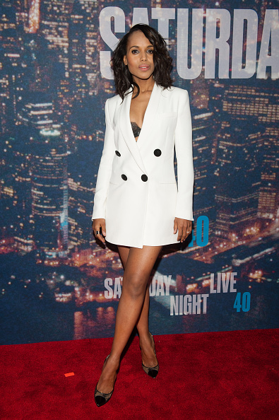 NEW YORK, NY - FEBRUARY 15:  Kerry Washington attends the SNL 40th Anniversary Celebration at Rockefeller Plaza on February 15, 2015 in New York City.  (Photo by D Dipasupil/FilmMagic)