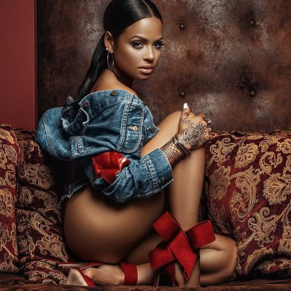 Christina Milian show butt on Wanthy D photo shoot HQ Twitpic 1