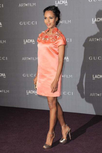 Kerry-washington-in-Satin-Dress-by-Gucci