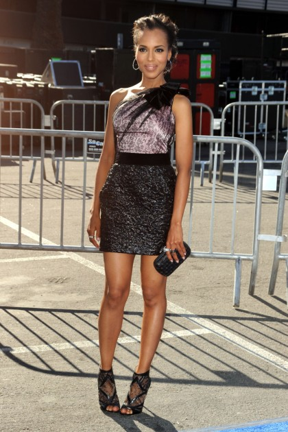 HOLLYWOOD, CA - AUGUST 14:  Actress Kerry Washington arrives at the 2011 VH1 Do Something Awards at the Hollywood Palladium on August 14, 2011 in Hollywood, California.  (Photo by Frazer Harrison/Getty Images)