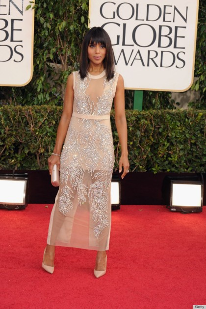 BEVERLY HILLS, CA - JANUARY 13:  Actress Kerry Washington arrives at the 70th Annual Golden Globe Awards held at The Beverly Hilton Hotel on January 13, 2013 in Beverly Hills, California.  (Photo by Steve Granitz/WireImage)