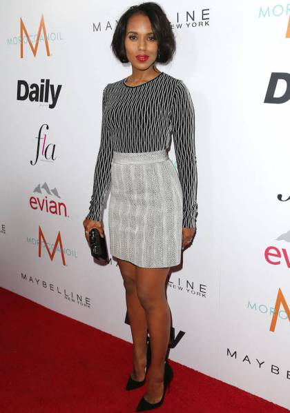 "WEST HOLLYWOOD, CA - JANUARY 22:  Actress Kerry Washington attends The DAILY FRONT ROW ""Fashion Los Angeles Awards"" at the Sunset Tower Hotel on January 22, 2015 in West Hollywood, California.  (Photo by Frederick M. Brown/Getty Images)"