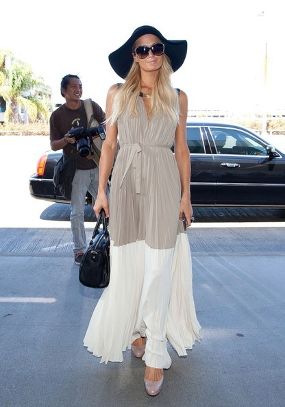 paris-hilton-and-bcbgmaxazria-adelaide-pleated-color-blocked-maxi-dress-gallery