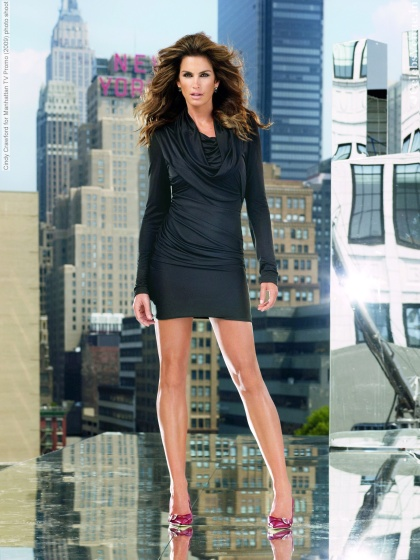 Cindy Crawford for Manhattan TV Promo (2009) photo shoot