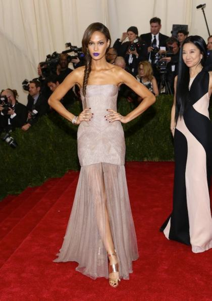 the 'Charles James: Beyond Fashion' Costume Institute Gala at the Metropolitan Museum of Art on May 5, 2014 in New York City. Featuring: Joan Smalls Where: New York, New York, United States When: 06 May 2014 Credit: Andres Otero/WENN.com